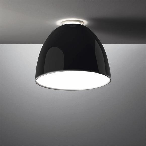 Artemide Nur Gloss Soffitto Fluo AR A245310 Noir