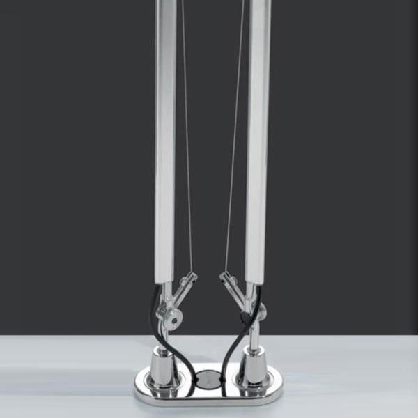 Artemide Tolomeo Double pivot de table AR A004300 Chrome