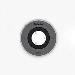 Artemide Architectural Ego 90 Round drive-over XS AR T4033SPW00 Roestvrij staal