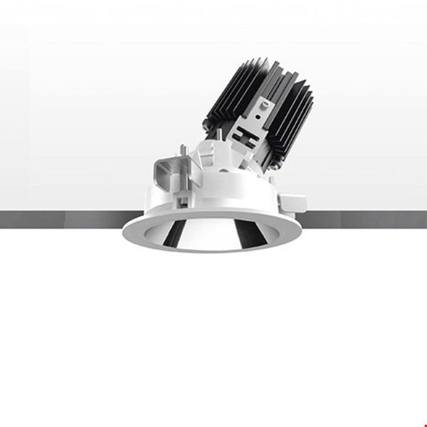 Artemide Architectural Everything 80 Round trim ajustable 46° AR M331325 Blanc / Aluminium