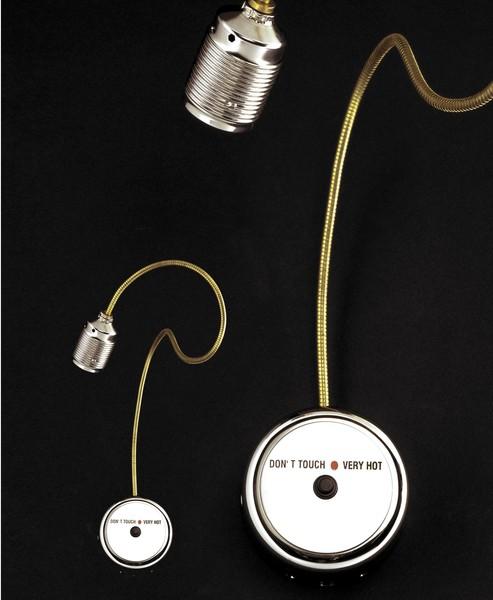 Catellani & Smith Don't Touch Very Hot wall lamp CS CS.PR.0007 Nikkel