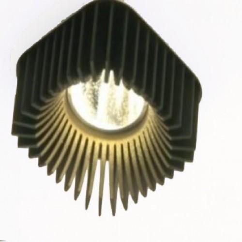 Dark Coolfin crown SQ inbouw LED 14,5W 60°700K 700mA  DA 83602145276000 Zwart / Zwart