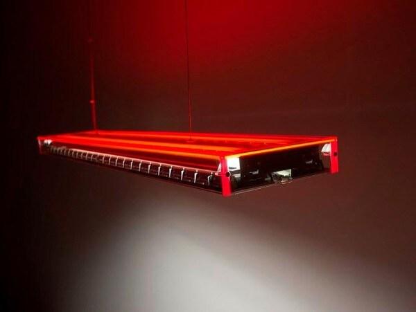 Dark Ice suspension g5 2x28W 7,5m DALI  DA 1000023004R Rouge