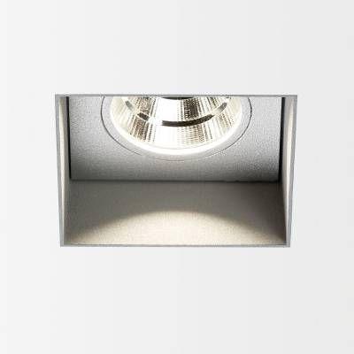 Delta Light Carree trimless LED 3033 s1 powerLED 6-8W/3000K  DL 202518122A Gris aluminium