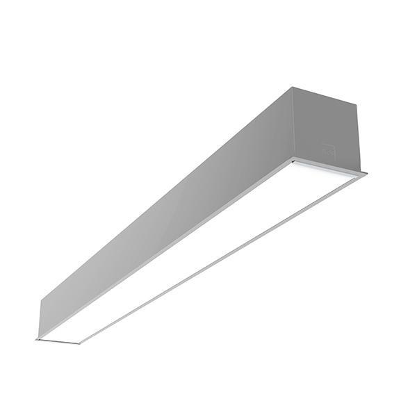 Flos Architectural In-Finity 100 Recessed Trim Micro-Prismatic Diffuser Emergency Module Dali AN N10TEM3U02.DA Argent
