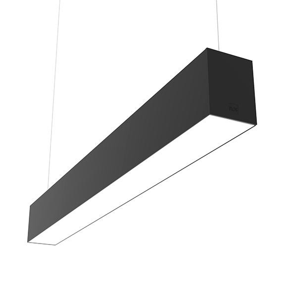 Flos Architectural In-Finity 100 Suspension Up & Down Micro-Prismatic Diffuser Emergency Module Dim DALI AN N10UEM3U14.DA Noir