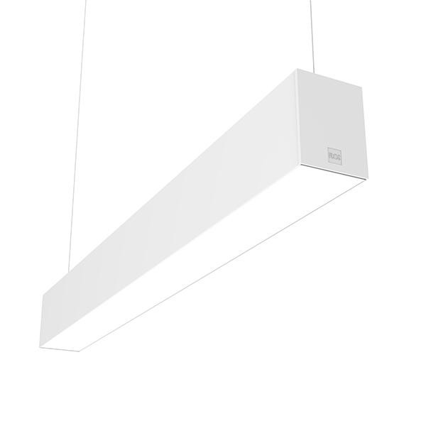 Flos Architectural In-Finity 100 Suspension Up & Down Micro-Prismatic Diffuser Emergency Module Dim DALI AN N10UEM3U30.DA Blanc