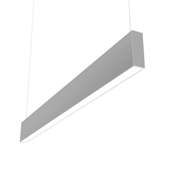 Flos Architectural In-Finity 35 Suspension Up & Down Micro-Prismatic Diffuser Emergency Module Dim DALI AN N35UEM3U02BDA Argent