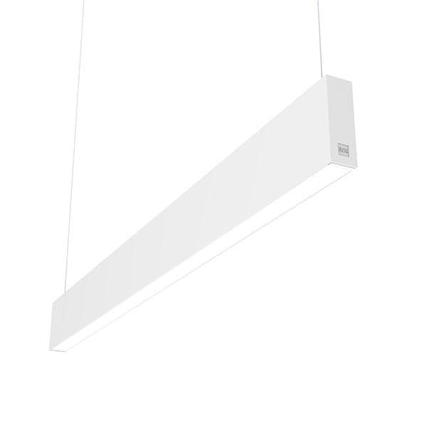Flos Architectural In-Finity 35 Suspension Up & Down Micro-Prismatic Diffuser Emergency Module Dim DALI AN N35UEM3U30BDA Blanc