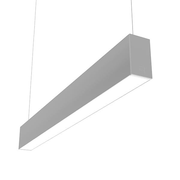 Flos Architectural In-Finity 70 Suspension Up & Down Micro-Prismatic Diffuser Emergency Module AN N70UEM3U02B Argent