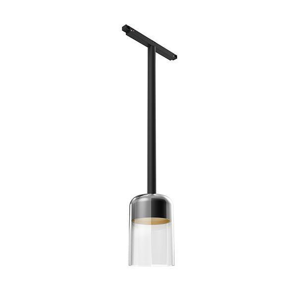 Flos Architectural Infra-Structure Suspension Glass Downlight 110 1-10V AN 03.8131.00.1V Noir