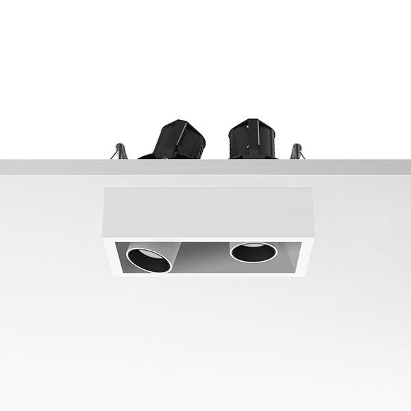 Flos Architectural Johnny 80 Semi-Recessed 2L Leds Vierkant AN 03.0770.40 Wit / Wit