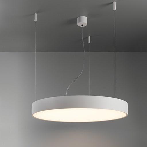 Modular Lighting Flat Moon 650 Suspension Up/Down LED Dali/pushdim GI MO 13305009 Blanc structuré