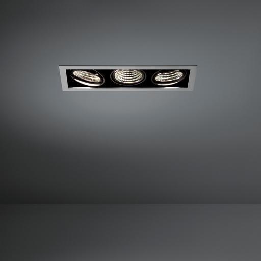 Modular Lighting Mini Multiple 3x Led MO 11432705 Aluminium / Zwart