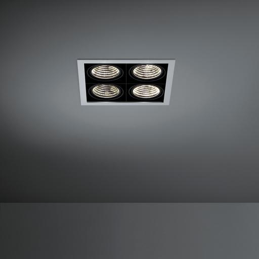 Modular Lighting Mini Multiple 4x Led MO 11434305 Aluminium / Zwart