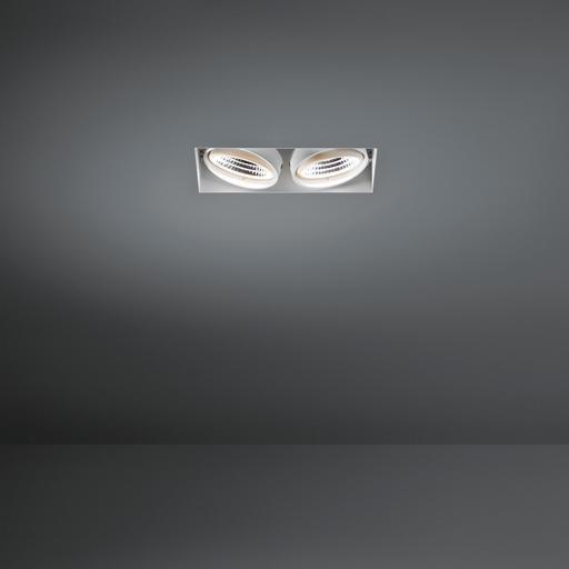 Modular Lighting Mini Multiple Trimless 2x Led 1-10V/Pushdim MO 11441609 Wit structuur