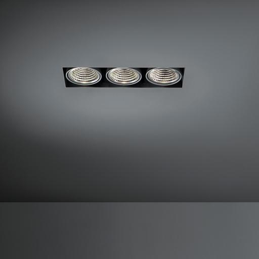 Modular Lighting Mini Multiple Trimless 3x Led 1-10V/Pushdim MO 11442402 Noir