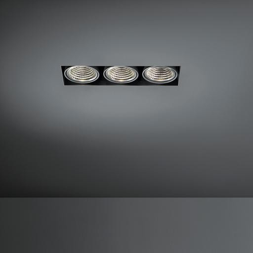 Modular Lighting Mini Multiple Trimless 3x Led 1-10V/Pushdim MO 11442609 Wit structuur