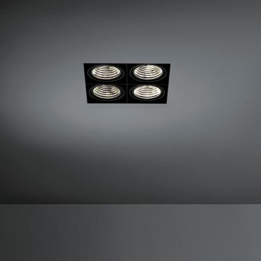 Modular Lighting Mini Multiple Trimless 4x Led 1-10V/Pushdim MO 11443402 Zwart