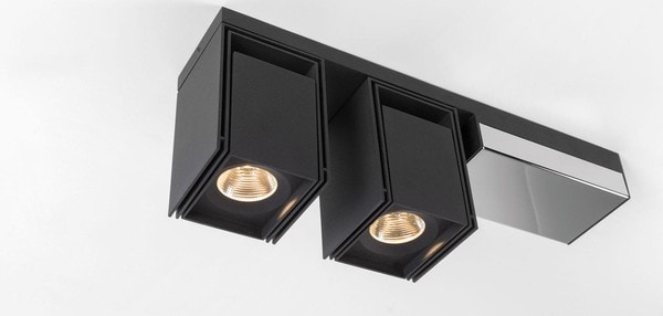 Modular Lighting Rektor 2x LED Tre Dim GI MO 14246164 Zwart structuur / Chroom