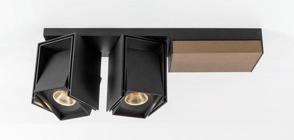 Modular Lighting Rektor 2x LED Tre Dim GI MO 14248167 Noir structuré / Bronze fumé