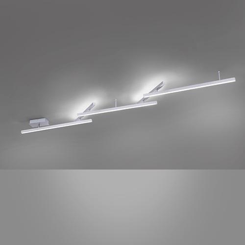 Trio Melby Plafondlamp max. 242cm TR 651210507 Mat nikkel